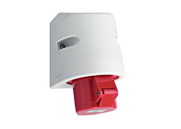 Red CEE 16A Wallmount