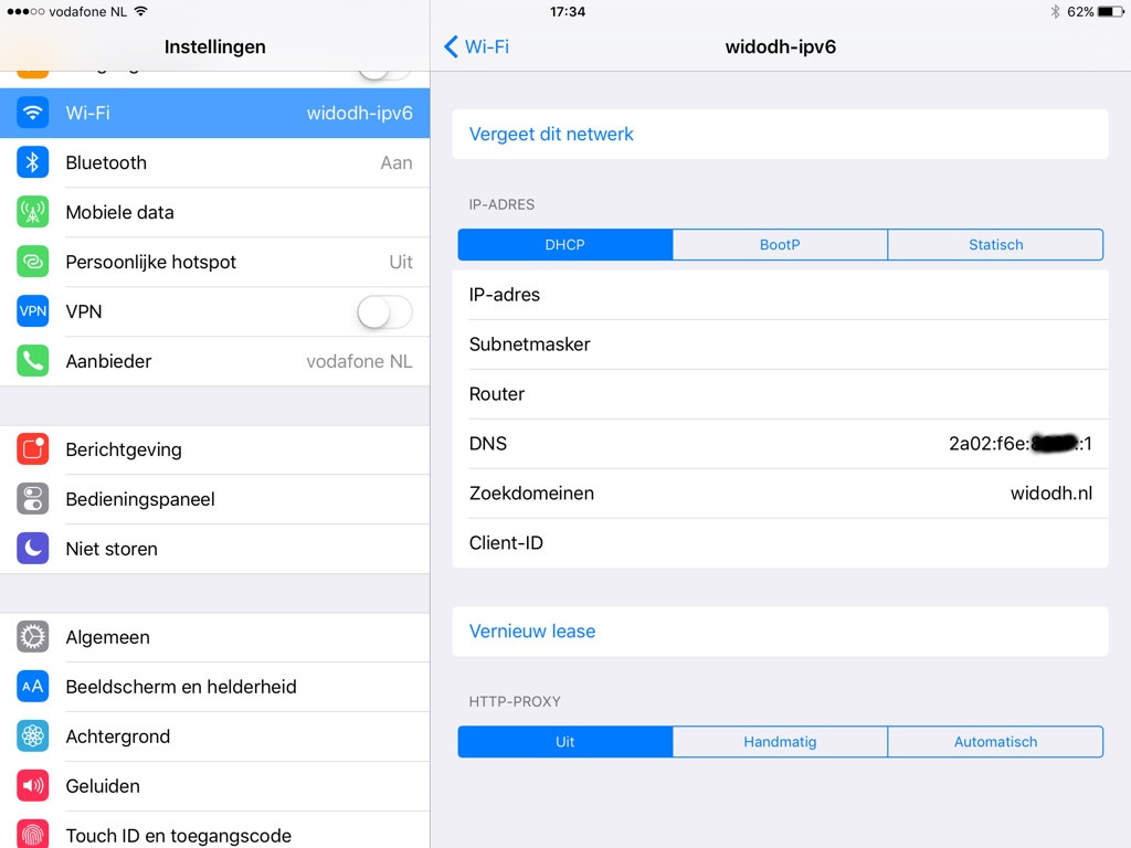 iOS 9.1 IPv6-only network
