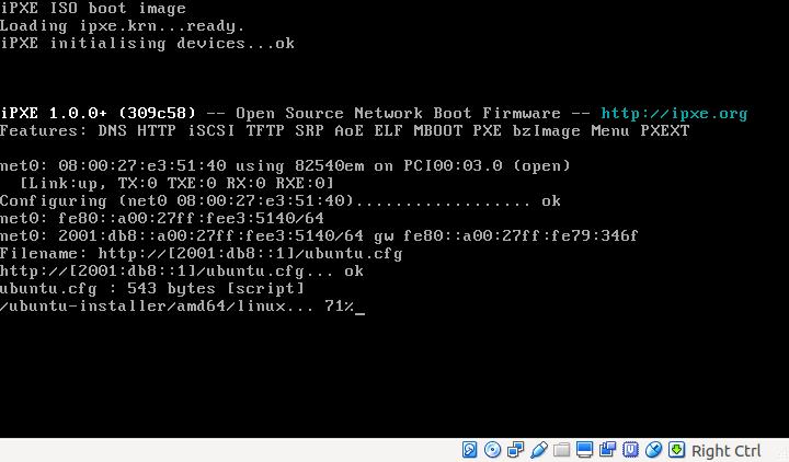 iPXE over IPv6
