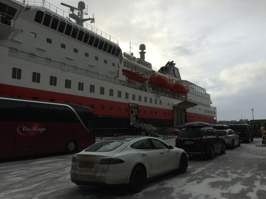 Hurtigruten ferry dock