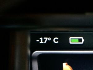 Minus 17 Celcius in Krokom