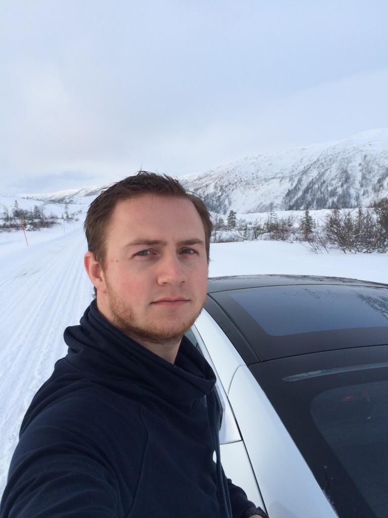 Selfie route 74 Norway