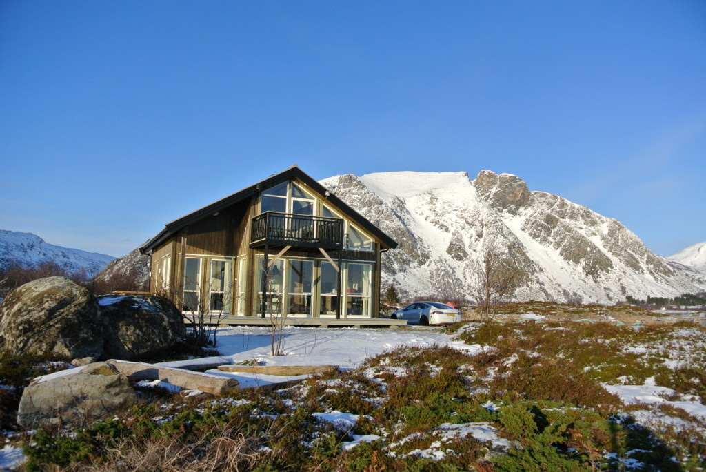 Model S at house Lofoten