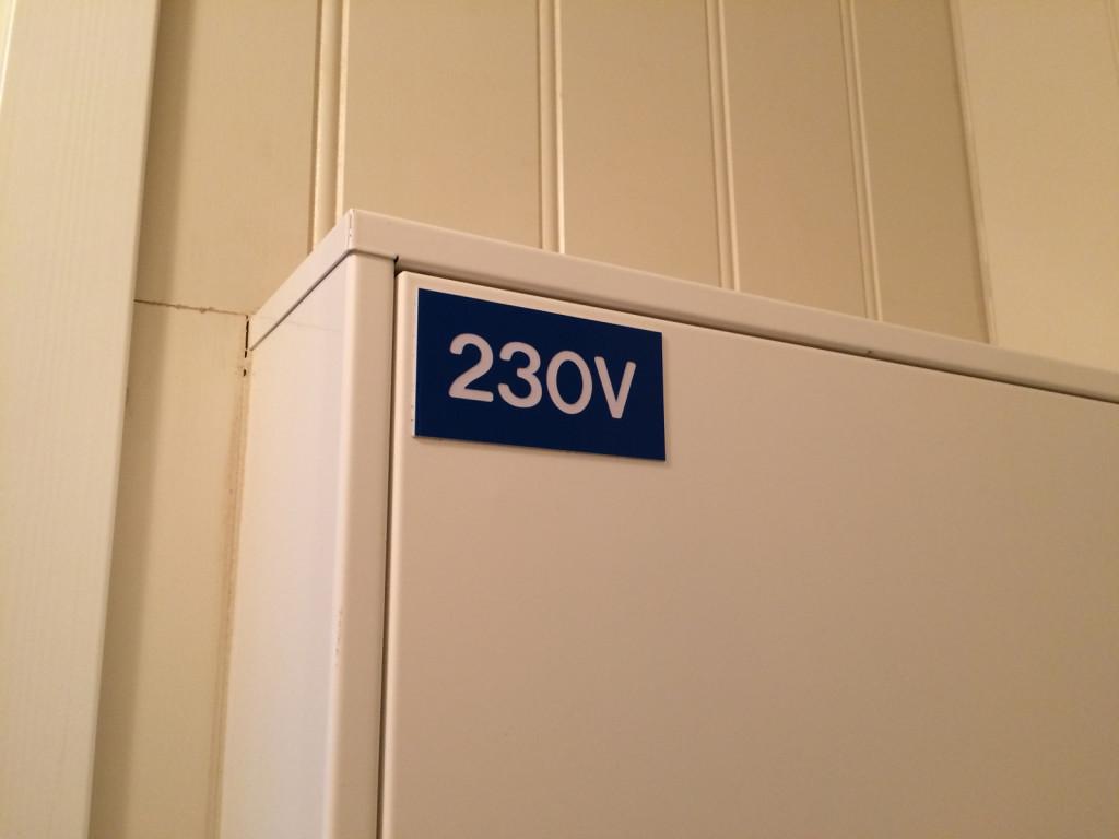 Norwegian 230V label
