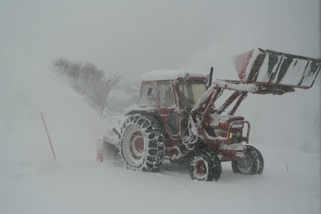 Tractor with snow plow