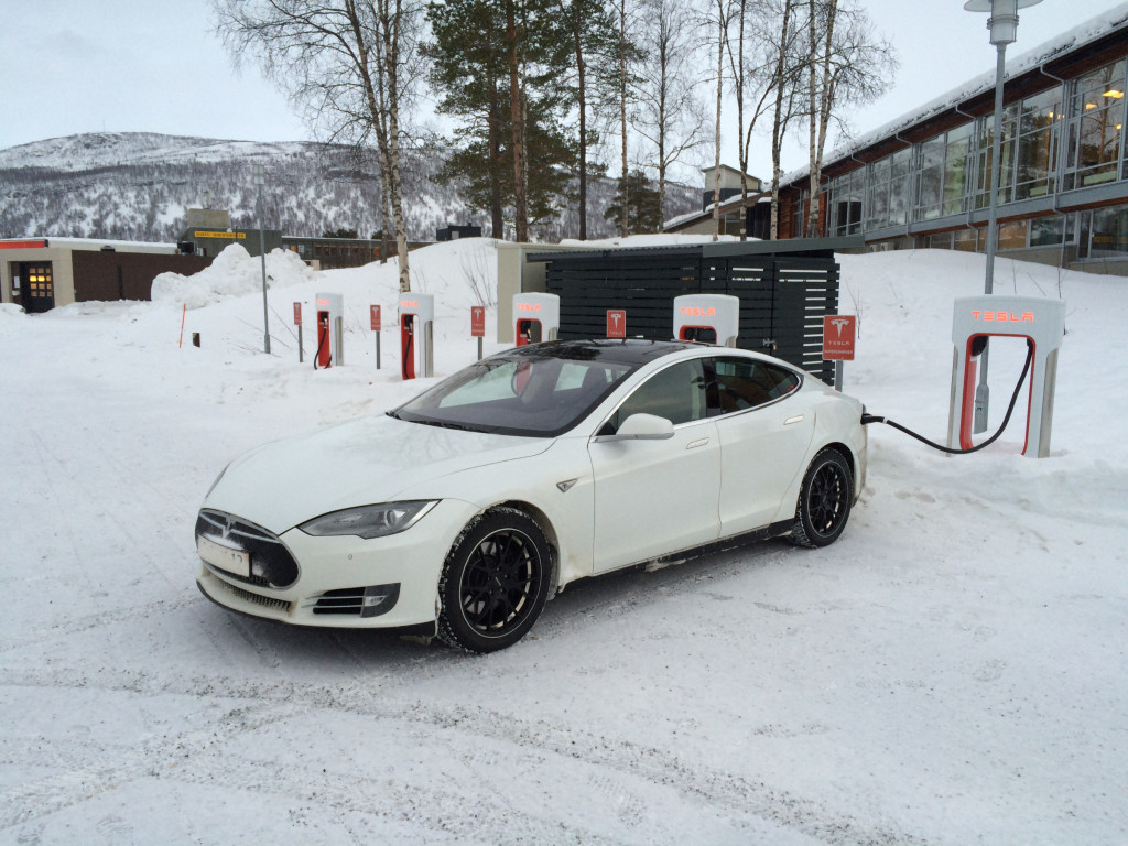 Charging at the Setermoen SuperCharger