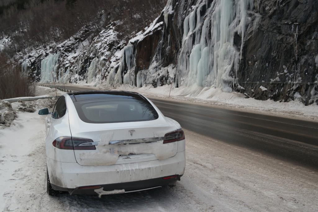 Wet road Norway