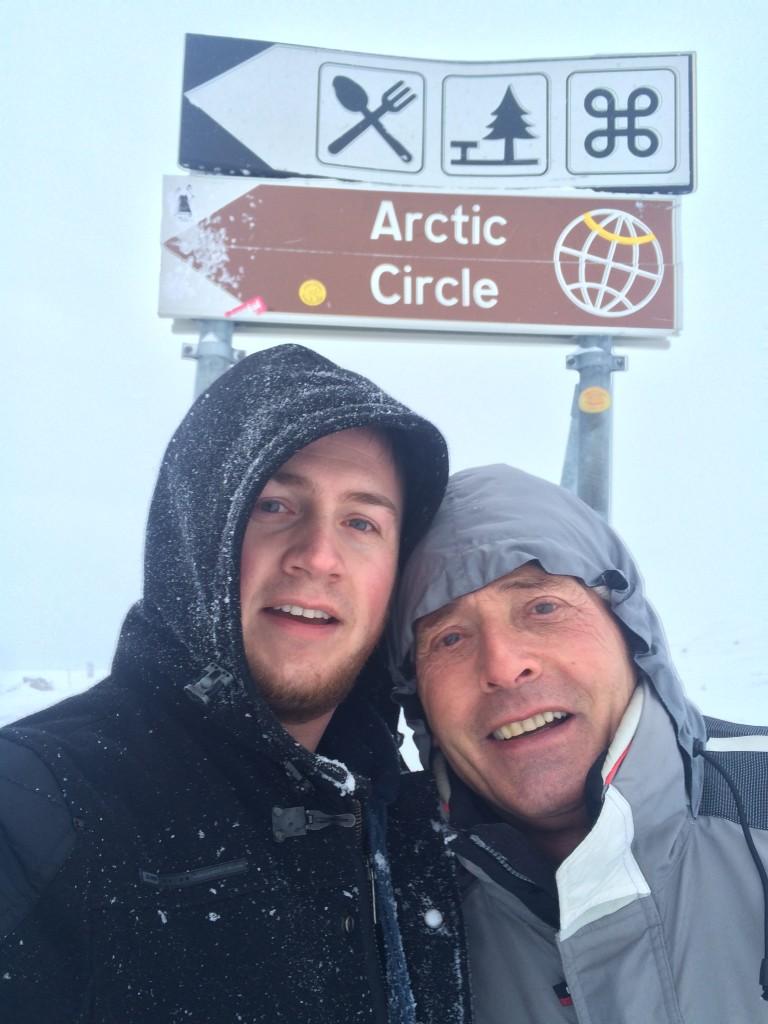 Selfie Arctic Circle