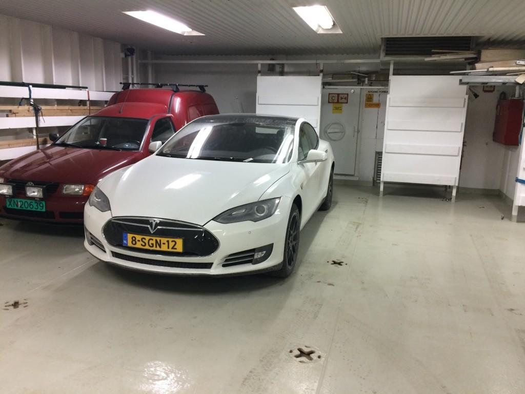Model S on Ferry