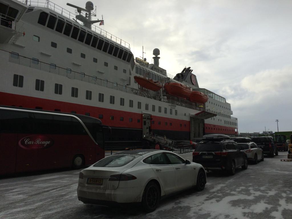 Hurtigruten ferry dock