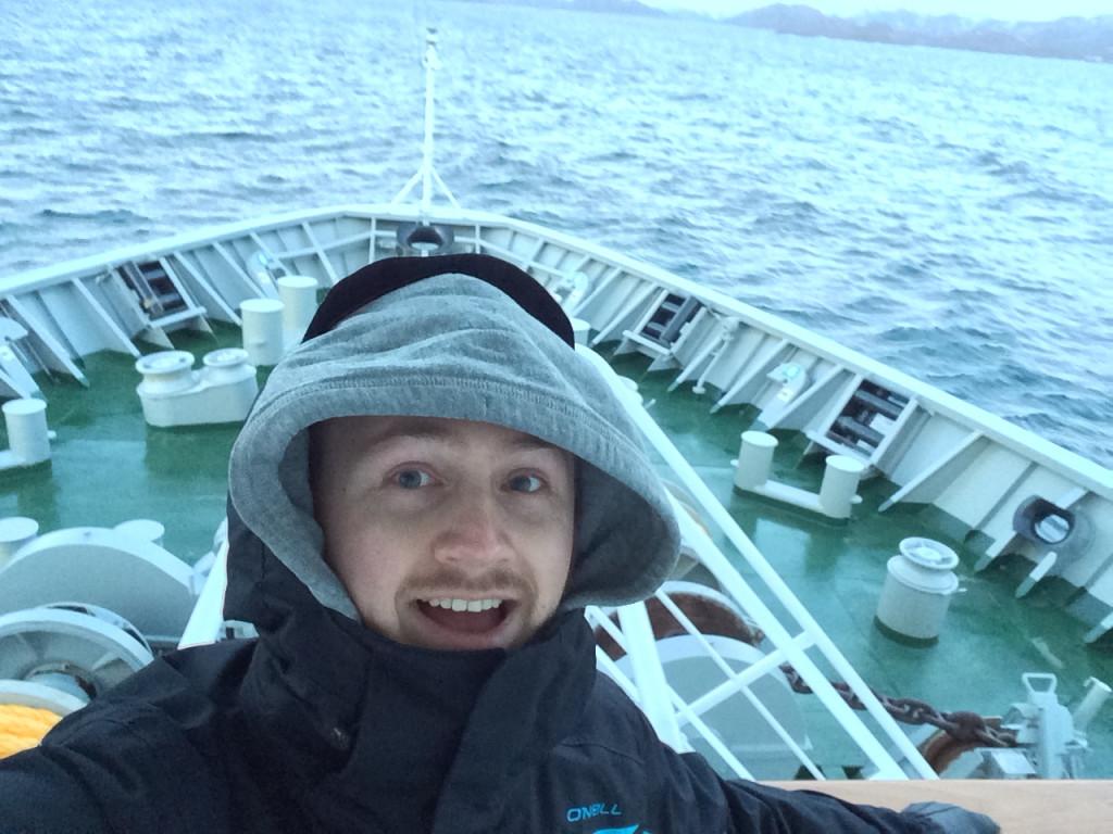 Selfie at Hurtigruten